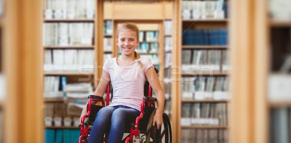 Görüntü kız oturma tekerlekli sandalye okul Stok fotoğraf © wavebreak_media