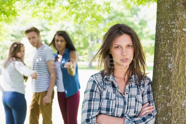 Eenzaam student meisje man onderwijs groep Stockfoto © wavebreak_media
