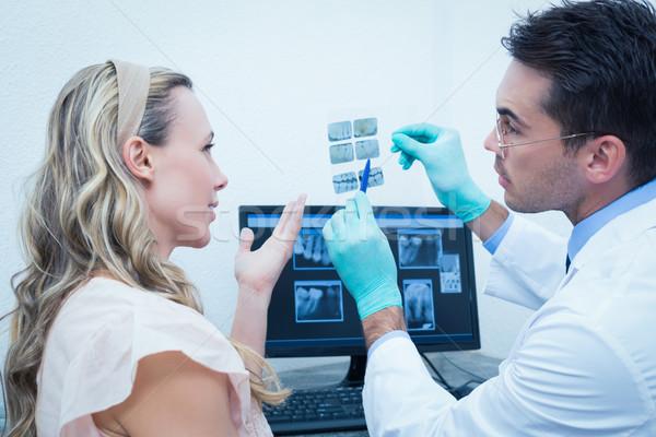 стоматолога женщину рот Xray вид сбоку Сток-фото © wavebreak_media