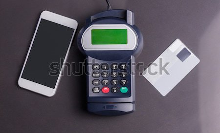 Pin smartphone houten tafel business telefoon winkelen Stockfoto © wavebreak_media