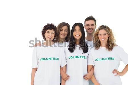 Composite image of smiling group of volunteers Stock photo © wavebreak_media