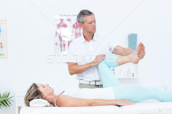 Stok fotoğraf: Doktor · bacak · tıbbi · ofis · sağlık