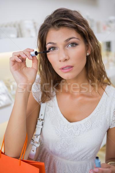 портрет женщину макияж салон красоты торговых Сток-фото © wavebreak_media