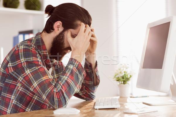 бизнесмен столе служба компьютер Сток-фото © wavebreak_media