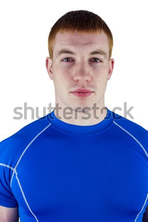 Ciddi rugby oyuncu bakıyor kamera portre Stok fotoğraf © wavebreak_media