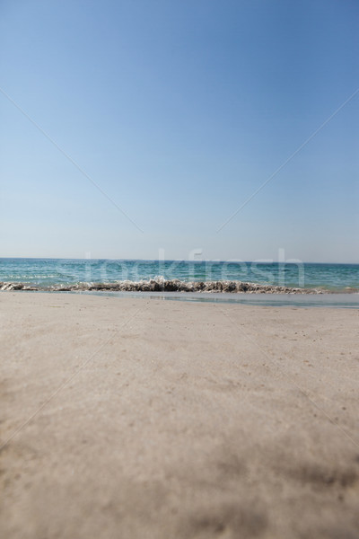 View of turquoise sea, beach and clear sky Stock photo © wavebreak_media