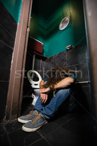 Man sleeping in the washroom Stock photo © wavebreak_media