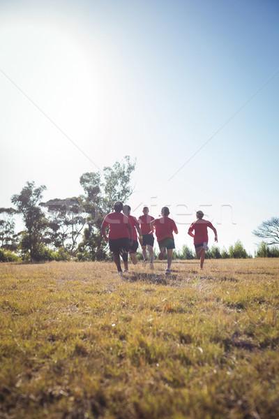 Edző képzés gyerekek csizma tábor napos idő Stock fotó © wavebreak_media