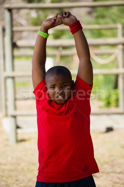 Chłopca wykonywania szkolenia Zdjęcia stock © wavebreak_media