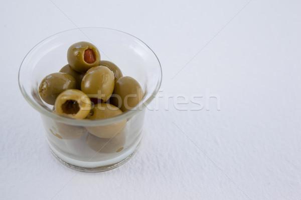 Ver verde azeitonas recipiente tabela Foto stock © wavebreak_media