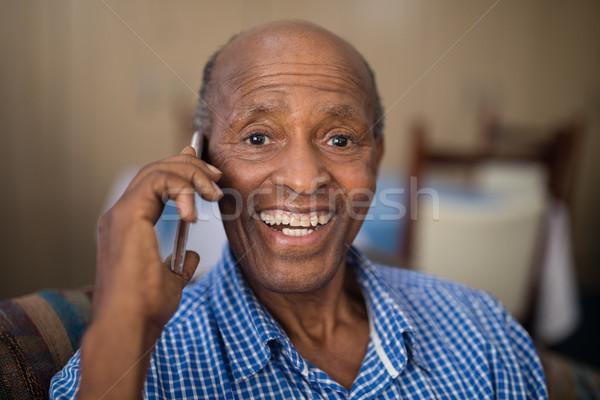 портрет старший человека говорить мобильного телефона Сток-фото © wavebreak_media