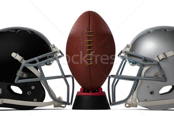 Kahverengi amerikan futbol spor kask Stok fotoğraf © wavebreak_media