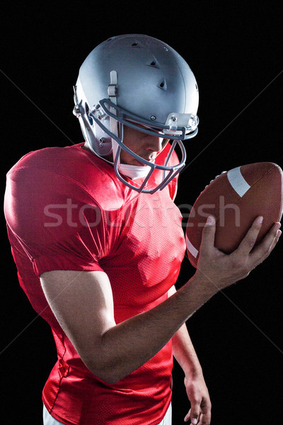 спортсмен глядя американский футбола Постоянный черный Сток-фото © wavebreak_media