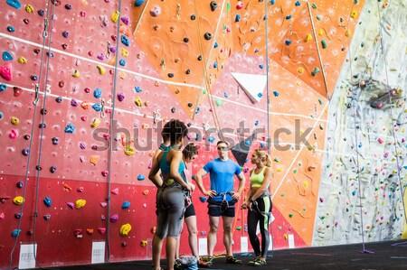 Постоянный скалолазания стены спортзал Сток-фото © wavebreak_media