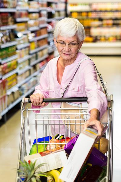 Kıdemli kadın süpermarket iş Stok fotoğraf © wavebreak_media