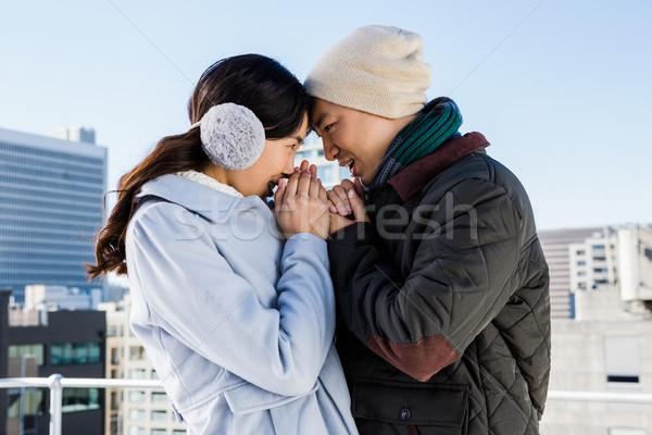 Affectionate couple in winter clothing Stock photo © wavebreak_media