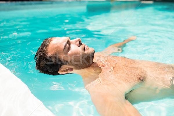Pacifica uomo piscina felice Foto d'archivio © wavebreak_media