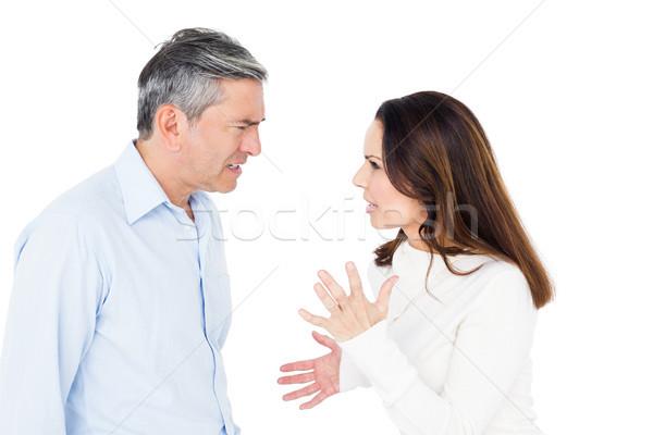 öfkeli çift beyaz kadın kadın Stok fotoğraf © wavebreak_media