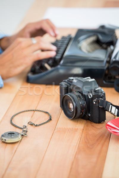 Tipo escritor oficina papel escritorio Foto stock © wavebreak_media
