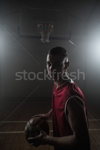 Porträt halten Ball Fitnessstudio Licht Stock foto © wavebreak_media