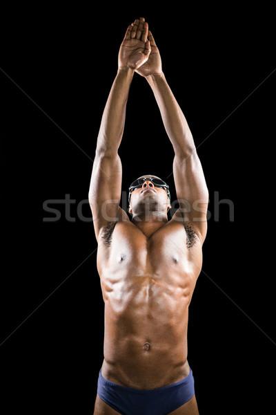 úszó kész alámerülés fekete úszás férfi Stock fotó © wavebreak_media