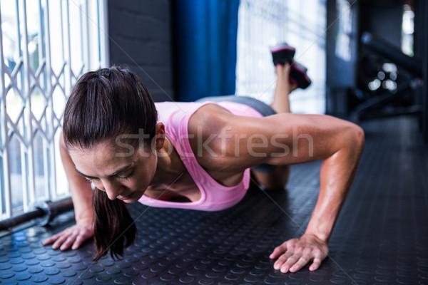 спортсмена спортзал фитнес здоровья Сток-фото © wavebreak_media