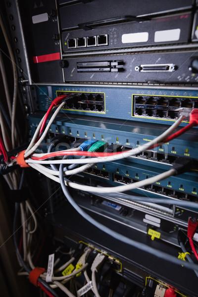 Ethernet soket raf Sunucu oda Stok fotoğraf © wavebreak_media