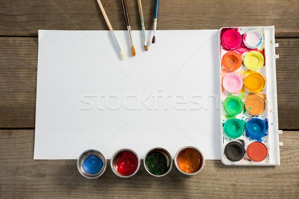акварель бумаги краской поверхность древесины Сток-фото © wavebreak_media