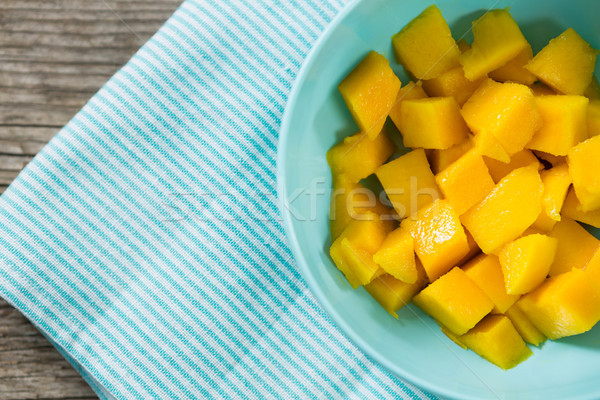 Picado mango tazón alimentos amor madera Foto stock © wavebreak_media