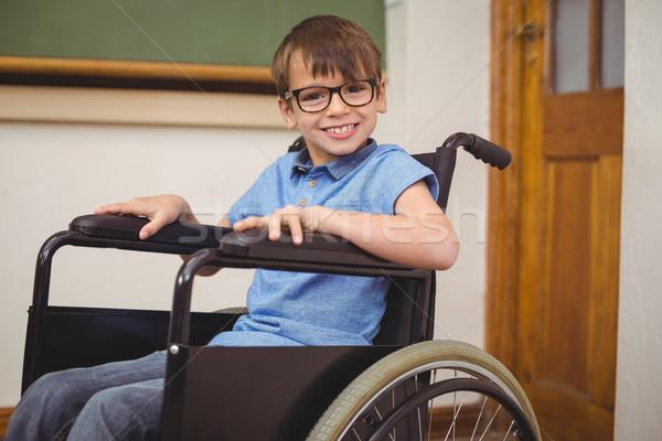 инвалидов улыбаясь камеры счастливым портрет класс Сток-фото © wavebreak_media