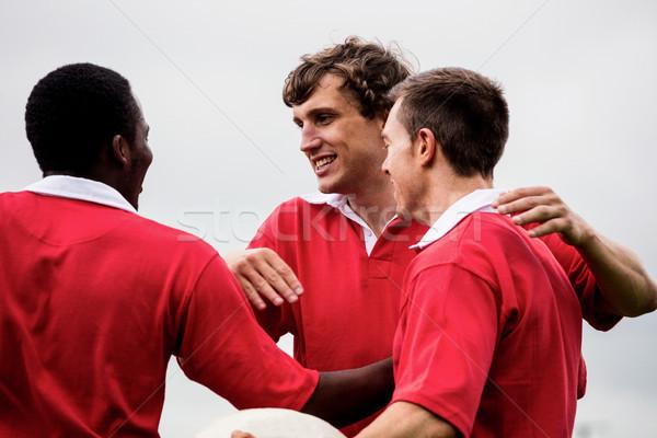 Rugby spelers vieren winnen park man Stockfoto © wavebreak_media