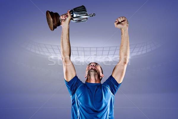 画像 幸せ ラグビー プレーヤー ストックフォト © wavebreak_media