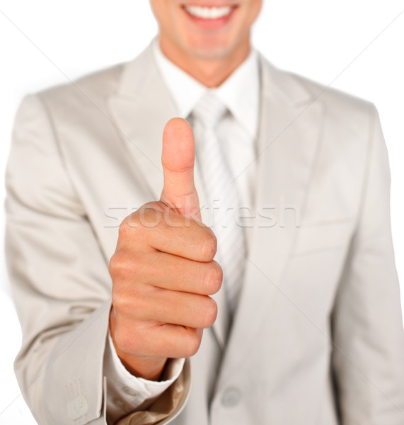 Close-up of a businessman with thumb up  Stock photo © wavebreak_media