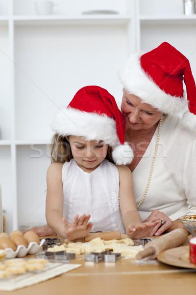 Abuela nina Navidad tortas cocina Foto stock © wavebreak_media