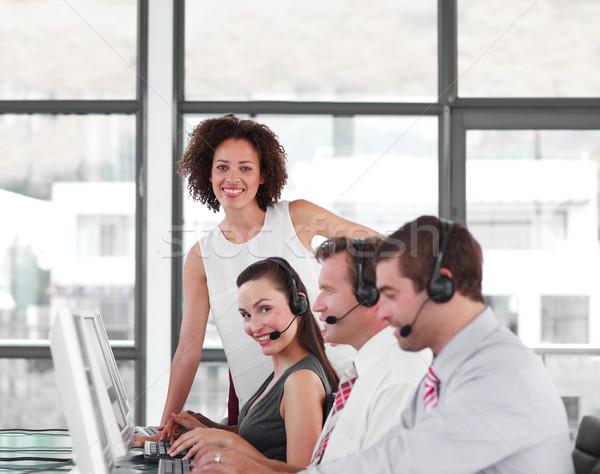 女 領導者 團隊 呼叫中心 業務 女子 商業照片 © wavebreak_media