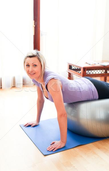 Caucasian woman doing exercice  Stock photo © wavebreak_media
