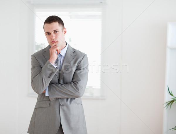 Stałego młodych przedsiębiorca myślenia działalności pracy Zdjęcia stock © wavebreak_media