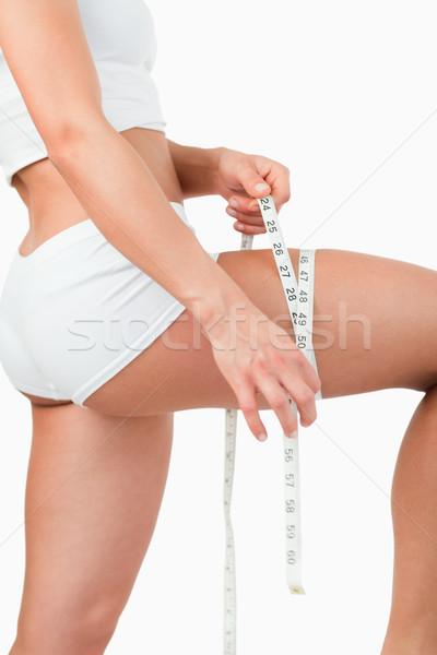 Retrato mujer muslo blanco deporte Foto stock © wavebreak_media