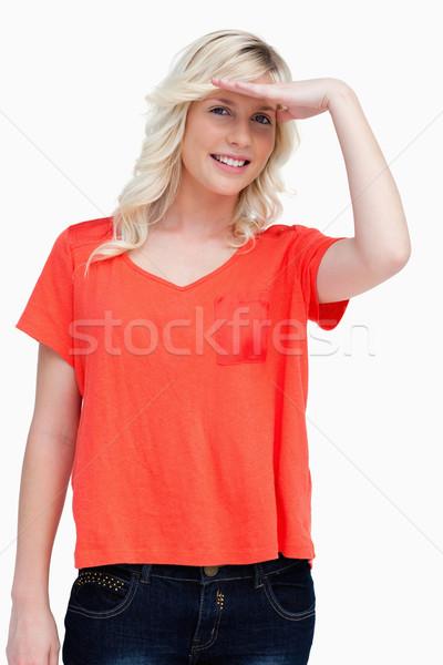 Tiener naar camera hand voorhoofd mode Stockfoto © wavebreak_media