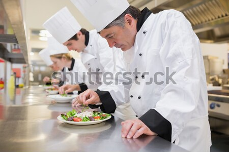 Повара кулинарный класс кухне счастливым Сток-фото © wavebreak_media