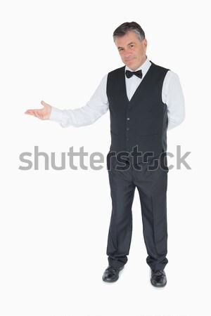 человека костюм что-то белый Сток-фото © wavebreak_media