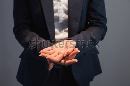 üzletember ujjak közelkép kezek igazgató remény Stock fotó © wavebreak_media