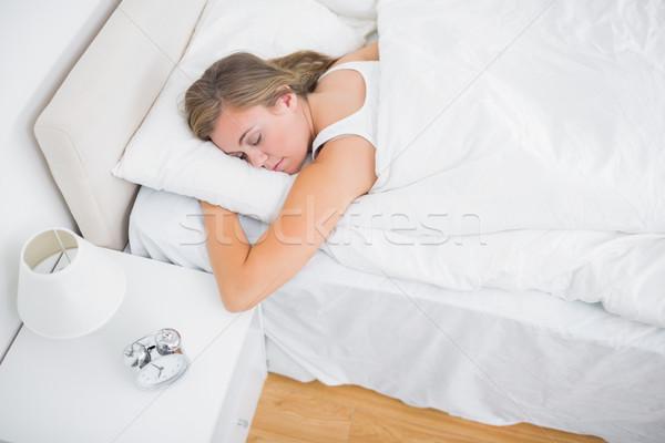 угол мнение безмятежный женщину спальный белый Сток-фото © wavebreak_media