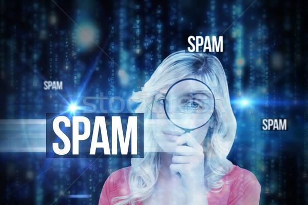 Spam lijnen Blauw wazig brieven vallen Stockfoto © wavebreak_media