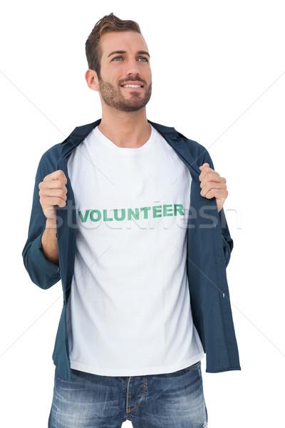 Portrait of a smiling young male volunteer Stock photo © wavebreak_media