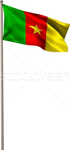 генерируется Камерун флаг белый Сток-фото © wavebreak_media