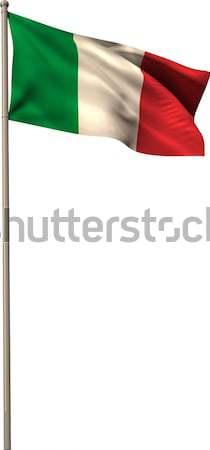 Foto d'archivio: Digitalmente · generato · Italia · bandiera · bianco