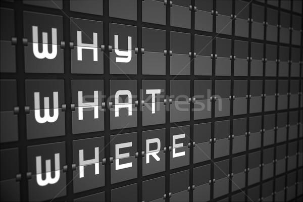 Kérdések fekete gépi tábla digitálisan generált Stock fotó © wavebreak_media