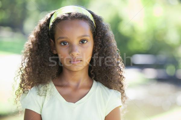 若い女の子 カメラ 公園 草 子 ストックフォト © wavebreak_media