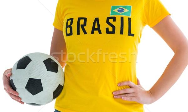 Pretty football fan in brasil t-shirt Stock photo © wavebreak_media